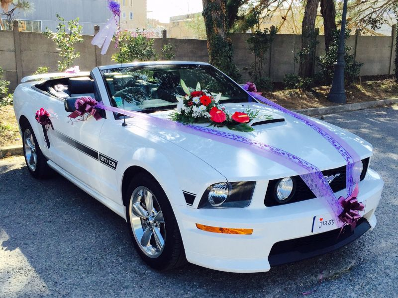 location voiture mustang mariage avec chauffeur