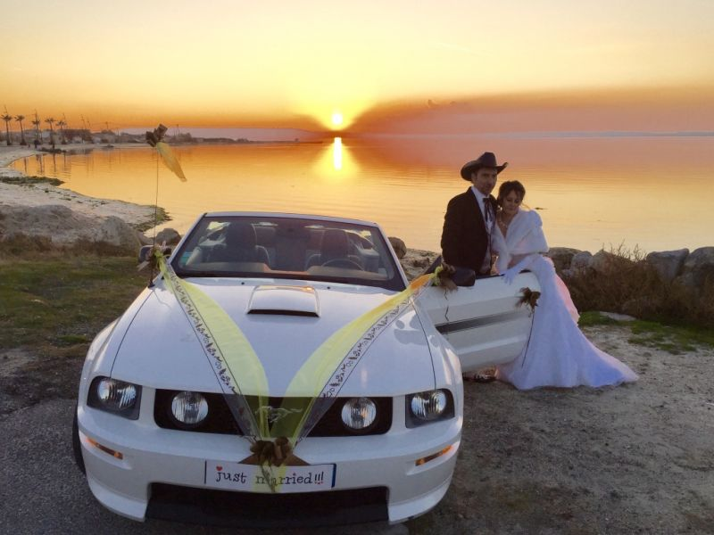 location mustang mariage blanche